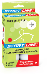 МЯЧИ ДЛЯ Н.Т. START LINE CLUB SELECT 1*,  6 ШТ,  БЕЛЫЕ